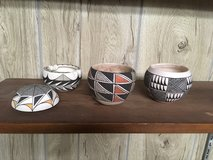 Vintage Acoma pottery pots in Alamogordo, New Mexico