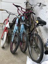 3 Kids Bikes & 1 Adult Bike in Baumholder, GE
