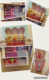 Doll house with accessories and Barbie car in Fort Hood, Texas