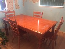 """Dinning table and 4 chairs 72"""" x 42"""" in Fort Carson, Colorado"""
