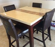 Faux marble counter dining set in Fort Sam Houston, Texas
