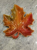 Fall leaf dish in Westmont, Illinois