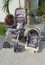 Stroller, car seat, base, and newborn insert in Okinawa, Japan