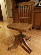 Antique White Oak Desk Chair in Spring, Texas