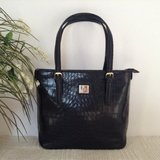 Authentic ANNE KLEIN tote in patent black - croc embossed in 29 Palms, California
