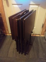 TV tray set solid wood in Fort Drum, New York