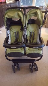 Peg Perego Aria 60/40 Kiwi Green Double Twin Stroller in Aurora, Illinois