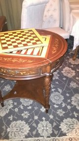 antique wood game table in Manhattan, Kansas
