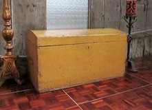 Yellow Solid Wood Hope Chest in Ramstein, Germany