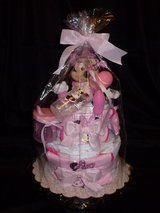 Diaper Cake - Minnie Mouse - Pink - $50.00 in Spring, Texas