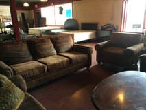 Brown Nailhead Matching Couch and Chair Set in DeRidder, Louisiana