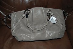 NWT AUTHENTIC COACH F22563 FLINT GREY TAUPE CARRYALL PURSE  SATCHEL in Fort Polk, Louisiana