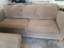 Beautiful microfiber couch and loveseat. in Sugar Grove, Illinois