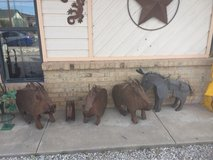 Metal Javalis and metal Donkey for sale 50% off in Alamogordo, New Mexico