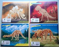 Dino-puzzles, made of wood,4 different species in Ramstein, Germany