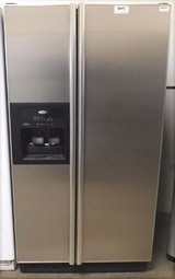 25 CU. FT. WHIRLPOOL SIDE-BY-SIDE REFRIGERATOR- STAINLESS STEEL in Camp Pendleton, California