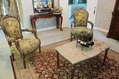 REDUCED FROM $2500, French Provincial 4pc Louis XVI Fine Detailed Furniture: Couch,2 Chairs,Marb... in Katy, Texas