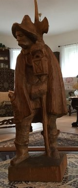 Night Watchman Carving in Ramstein, Germany