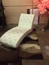 BRAND NEW! BLING RHINESTONE LEATHER WHITE ACCENT CHAIR LOUNGER in Camp Pendleton, California