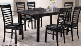 BRAND NEW! 7PC WOOD DINING SET WITH BUTTERFLY LEAF EXTENTION! in Vista, California