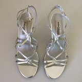 Silver Strappy Dress Shoes in Plainfield, Illinois