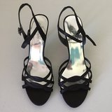 Black Strappy Dress Shoes in Plainfield, Illinois