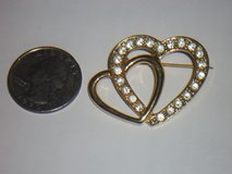 double heart pin in Wheaton, Illinois