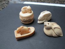 Group of carved Rabbits, Vintage, Miniature collectibles in Houston, Texas