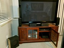 tv stand, tv, sound system in Travis AFB, California