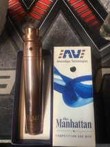 Solid Copper AV Manhattan mechanical vape mod with Purge RDA in Cherry Point, North Carolina