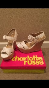 Charlotte Russe Wedge White Size 9 in Vacaville, California