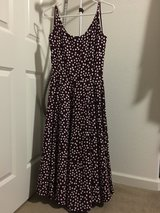 Eva Mendes Collection for New York and Company Dress Maroon with Polka Dots Size 2 in Vacaville, California