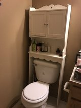 Over toilet storage cabinet in Fort Lewis, Washington