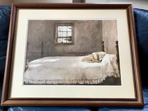 "Framed Art: ""Master Bedroom"" by Andrew Wyeth (sleeping dog) in Ramstein, Germany"