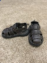 Brown leather toddler sandals in Norfolk, Virginia