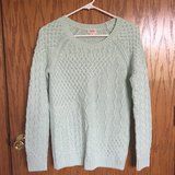 Mint Green Cable Knit Sweater in Glendale Heights, Illinois