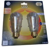 GE 40W Equivalent Warm White Vintage LED Light Bulb - 2 Pack in Chicago, Illinois