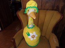 Daffodil Flower Geese Outfit Crochet Outdoor Decor Garden Statue Lawn Goose Clothes in Belleville, Illinois