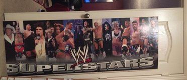 WWE Huge Mounted POSTER of Wrestlers in Baytown, Texas