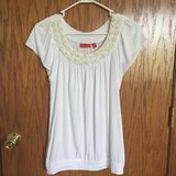 White Floral Top - small in Joliet, Illinois