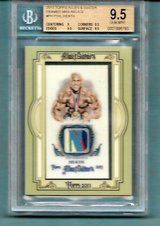 PHIL HEATH 2013 TOPPS ALLEN & GINTER FRAMED MINI RELIC (SICK) PATCH OF 2011 TO 2017 MR OLYMPIA in Ramstein, Germany