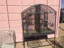 parrot cage in Yucca Valley, California