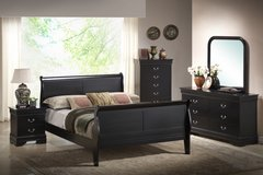 INVENTORY SALE! BLACK LOUIS QUEEN PHILIPE COLLECTION SOLID WOOD BEDFRAME! in Vista, California