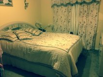 Queen comforter with curtains in Chicago, Illinois