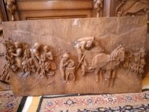 hand carved grape picking picture in Spangdahlem, Germany