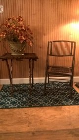 VINTAGE BAMBOO FOLDING CHAIR AND FOLDING TABLE in Biloxi, Mississippi