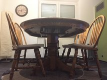 Oak Dinning Table w/6 Chairs in Ramstein, Germany