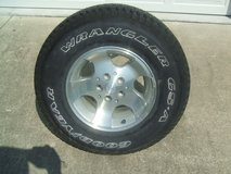 Jeep Wrangler Wheel & Tire - Silver Machined - NEW in Camp Lejeune, North Carolina
