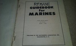 Guide book for marines, 1962 issue in Cherry Point, North Carolina