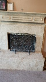 Iron fireplace screen cover in Baytown, Texas